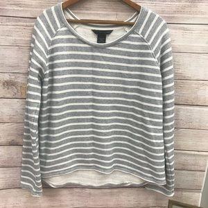 Calvin Klein Grey & White Sweater Size Large